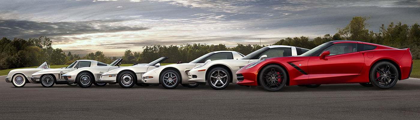 Seven Generations of Corvettes