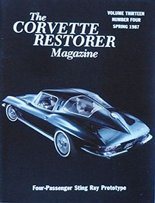 Spring 1987 Corvette Restorers Magazine