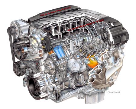 "2014 ""LT-1"" 6.2L V-8 VVT DI (LT1) for Chevrolet Corvette - David Kimble Illustration"