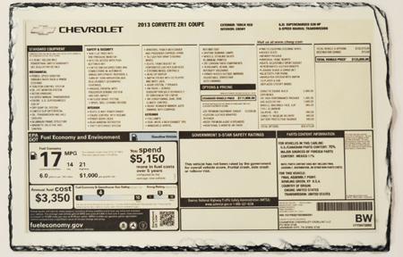 Build Sheets Amp Window Stickers National Corvette Museum