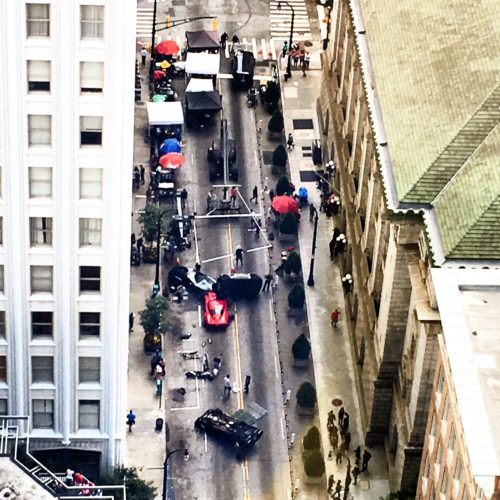A scene from Fast 8 being filmed in Atlanta on July 12, 2016. Photo shared with NCM by TJ Lindsley.