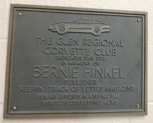 Bernie Finkel Plaque