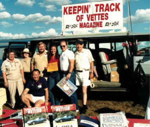 Shelli Finkel Centra with Dan Gale, Larry Shinoda, Jim Minneker and some other folks at Daytona in the late 80s.