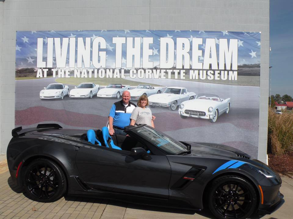 John and Amy Mullane take R8C Museum Delivery of their 2017 Collector Edition Grand Sport.