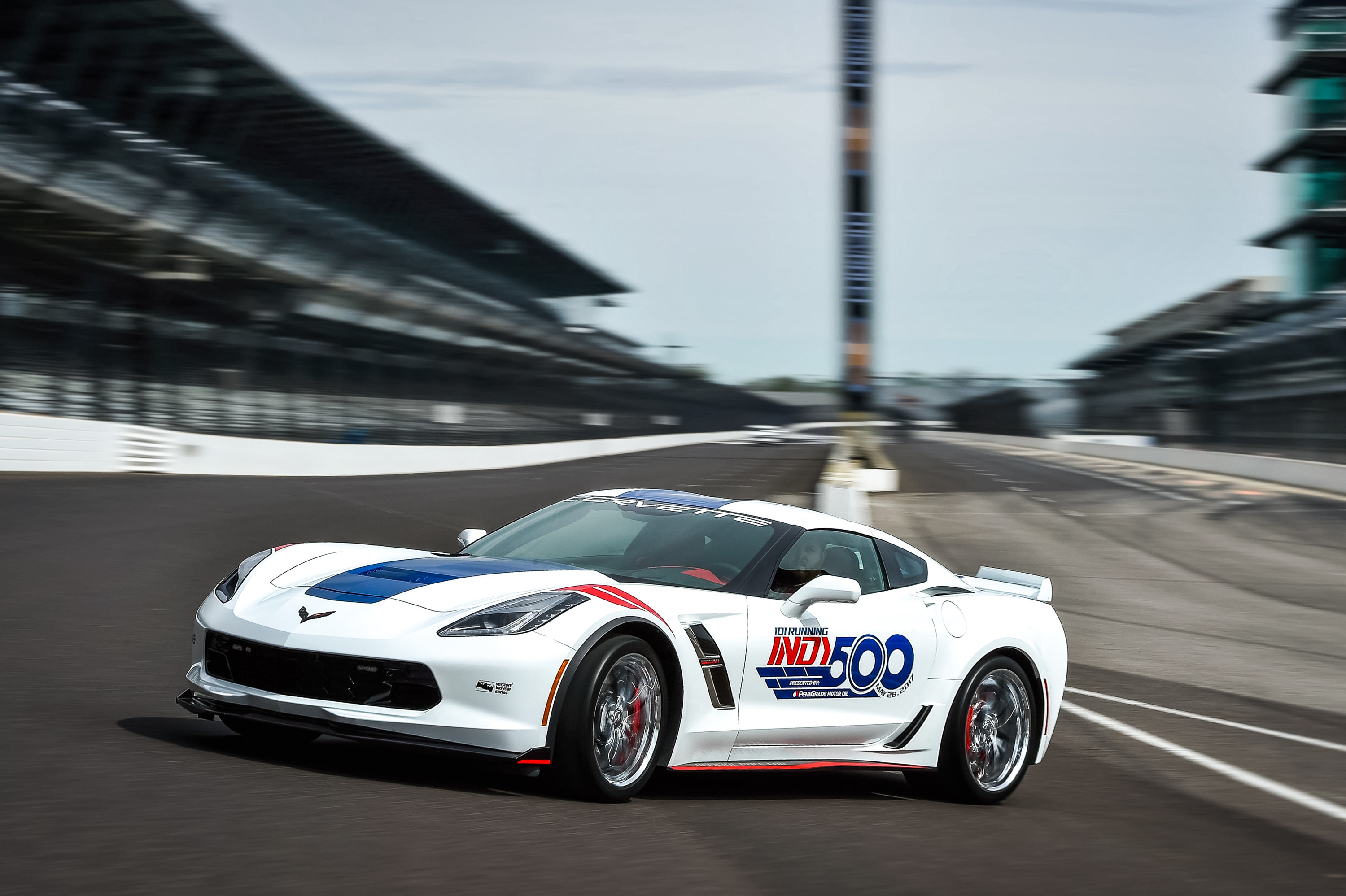 The 2017 Chevrolet Corvette Grand Sport Indianapolis 500 Pace Car At Motor Sdway In Indiana Will
