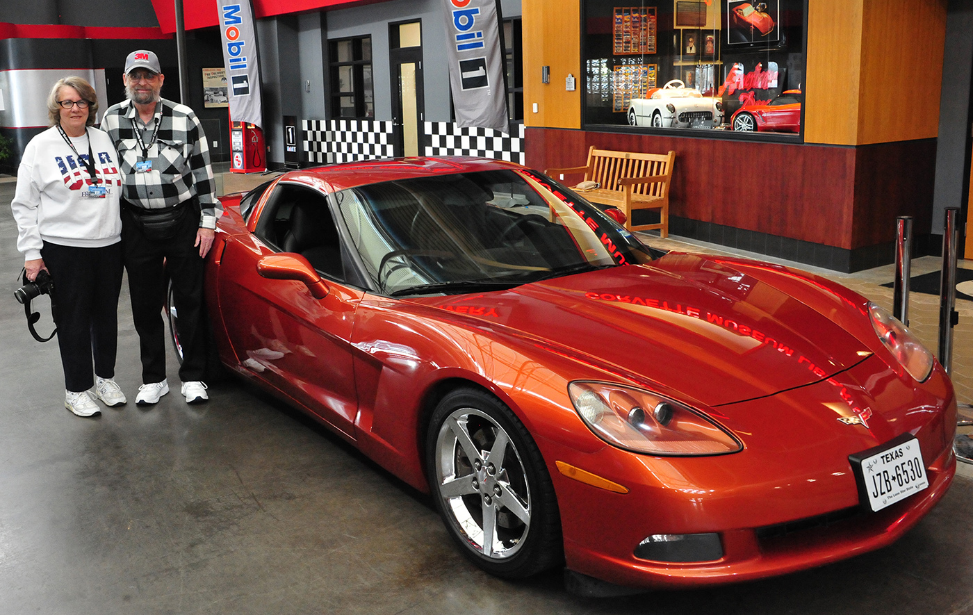 Lori and Ron Galt donate their 2005 Daytona Sunset Orange Corvette