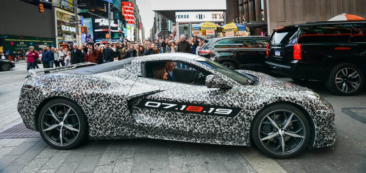 Chevrolet Corvette Chief Engineer Tadge Juechter And General Motors Chairman Ceo Mary Barra Drive In A Camouflaged Next Generation Down 7th