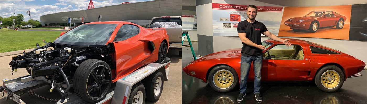 Wrecked C8 Visits NCM for Rotary Engine History