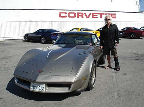 Phil Weisgerber with Corvette