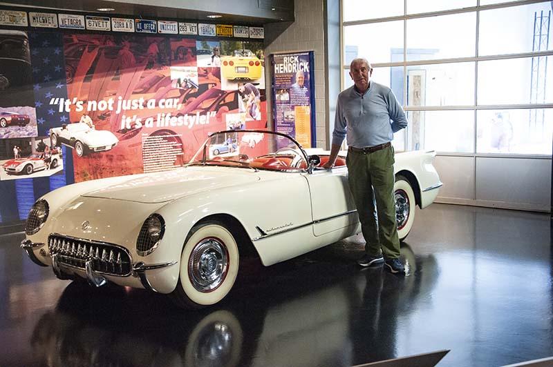 David Duggar and 1954 Corvette