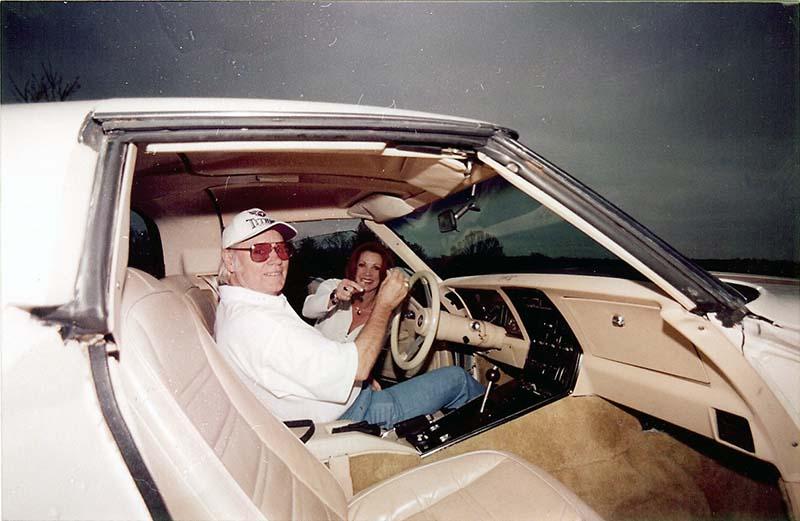 George Jones in Corvette
