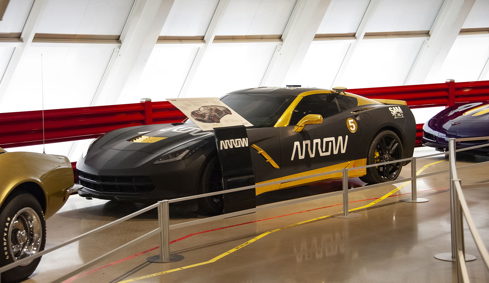 SAM Arrow Modified Corvette on Display at Museum