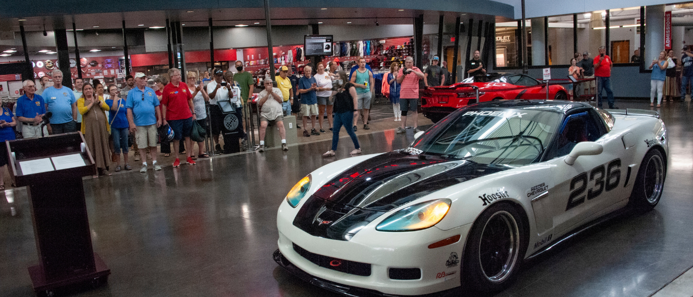 Corvette Raced by Couple Donated